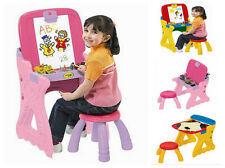 Drawing Chair Desk Kids Easel Play Chalkboard Table Childrens Art Play Storage
