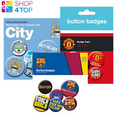 FOOTBALL SOCCER CLUB TEAM BADGE SET NEW 6 BUTTONS BUTTON OFFICIAL LICENSED NEW