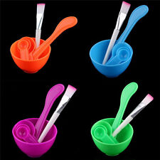 Hot 4 in 1 DIY Facial Mask Mixing Bowl Brush Spoon Stick Tool Face Care Set