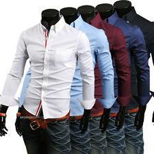 New Mens Dress Shirts Luxury Long Sleeve Casual Slim Fit Stylish Shirts Tops gs