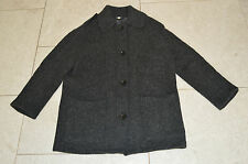 Burberry Brit Grey Button Up Wool Trench Coat Jacket Womens UK Size 8 10 / US 6