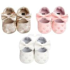 Baby Infant Leather Soft Sole Moccasin Boy Girl Toddler Leather Crib Shoes 0-18M