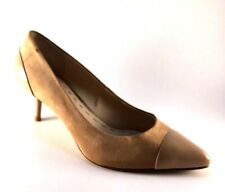Enzo Angiolini Casiano Natural Suede Leather Low Heel Pointy Pumps