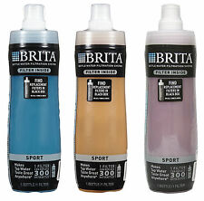 Brita 20 Ounce Sport Water Filter Bottles with 1 Filter, BPA Free, 3 Colors