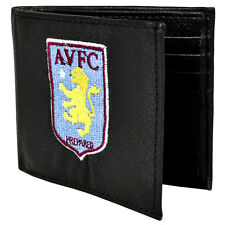 ASTON VILLA FC CREST EMBROIDERED PU LEATHER MONEY WALLET PURSE NEW XMAS GIFT