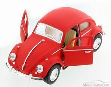 1967 Volkswagen Classic Beetle, Red, Kinsmart 5057DM, 1/32 Scale Diecast Toy Car