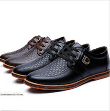 Men's  Dress Leather Lace Up Breathable Wedding Shoes Oxfords Loafers Casual