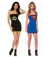 Womens Batgirl Ladies Sexy Supergirl Costume Dress Superhero Fancy Dress Parties