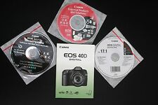 CANON EOS 40D INSTRUCTION USER MANUAL PLUS 3 SOLUTION INSTRUCTION MANUAL DISCS
