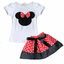 Minnie Mouse Red White Black Polka Dot Skirt & Top Set Outfit 6-12 2T 3T 4T 5 !!