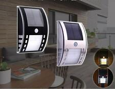 Led Solar Powered PIR Motion Sensor Path Wall Light Garden Outdoor Security Lamp