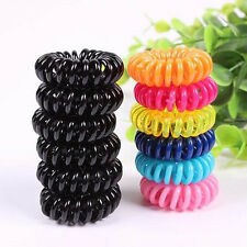 50/100pcs Girl Elastic Rubber Hair Ties Band Rope Ponytail Holder Telephone Wire