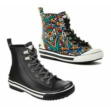 Rocket Dog RAINY SPROCKET Ladies Rubber Lace Up Comfort Casual Hi-Top Trainers