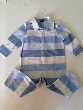 Baby Gap Boys size 18 24 m Striped Blue Romper NWT 1 piece 100% cotton