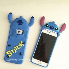 3D cartoon Stitch Silicone Case cover for samsung galaxy S6 S7 iphone 6s plus