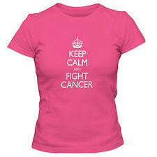 Women's Keep Calm And Fight Cancer T-Shirt   FREE SHIPPING