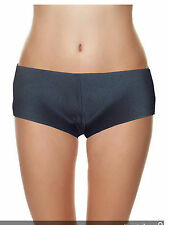 Womens low waist hot pants ladies boy shorts knickers black size 6 8 10 12 14