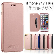 Luxury Slim Wallet Flip Leather TPU Back Case Cover Skin For iPhone 6 6S 7 Plus
