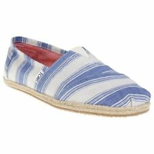 Toms 1074A13 TOMS Mens Classics Umbrella Stripe Shoe Navy SZ- Choose SZ/Color.