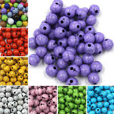 Acrylic Opaque Plastic Crackle Round Spacer Loose Beads Jewellery  6mm/8mm/10mm
