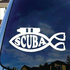 Scuba Fish Diving Vinyl Decal Sticker Funny Tank Flippers Dive Love Mask