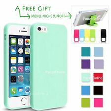 For iPhone SE/5S/5 Candy Case Silicone Bumper Soft Jelly Gel Cover Rubber Skin