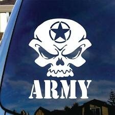 Army Skull Vinyl Decal Car Sticker Military Veteran Vet US Armed Forces POW MIA