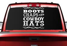 Boots Chaps Cowboy Hats Vinyl Decal Sticker Cowboy Cowgirl Country Rodeo Western