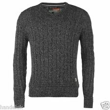 SoulCal Cable Knit V Neck Sweater Comfortable Casual Wear Mens Jumper All Sizes