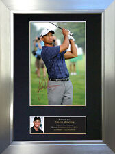 TIGER WOODS Signed Autograph Mounted Photo Repro A4 Print no49
