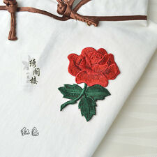 Rose Patches Lace Sew On Appliques Embroidered Flower Motif Lady DIY Clothing