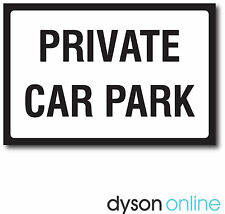 Private Car Park Metal Sign, Black & White, Various Sizes FREE P+P