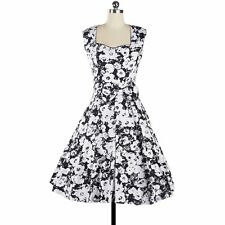 Rockabilly 50s 60s Vintage Evening Retro Pinup Swing Cocktail Dance Formal Dress