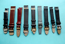 Faux Leather Watch Straps Various Colours Sizes 12,14,16,18,20,22,24mm UK Seller