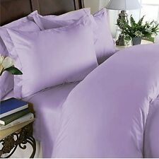 100% Organic Cotton One Flat Sheet & Two Pillow Case Lavender Solid 1000~TC