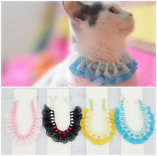 1x Sweet Pet Dog Cat Puppy Imitation Pearls Lace Necklace Collar Colors Pick