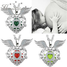 Angel Wing Locket Pendant Necklace Chiming Ball Mexican Bola For Pregnancy women