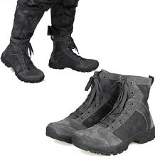 Mens Real Leather Tactical Military Combat Ankle Boots Camo Hiking Hunting Shoes
