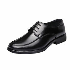 Men Lace Up Dress Formal Leather Shoes Wedding Party Oxford Classic Black Flats