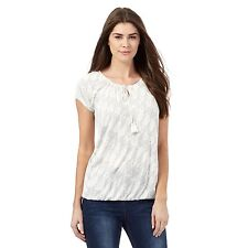 The Collection Womens Ivory Ikat Print Bubble Hem Top From Debenhams