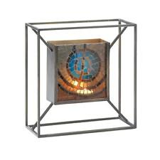 Blue Mosaic Glass Tile / Metal Candle Wall Sconce Light Votive Tealight Iron NEW