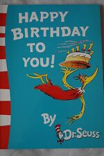 HAPPY BIRTHDAY TO DR SEUSS DR. SEUSS SERIES BRAND NEW CHILDREN LARGE STORY BOOK