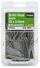 Paslode BULLET HEAD NAILS Bright Steel AUS Brand- 50x2.0mm, 50x2.8mm Or 65x2.8mm