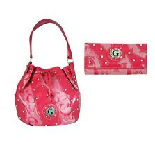 G-Style Hobo Bag with Wallet  Set Fushia Purse Handbag Round ShapeTote Bag