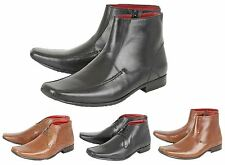 Mens Leather Italian Style Casual Square Toe Ankle Boots Formal Shoes Size