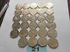 Olympic 50p full set of 29 coins [ rare ]