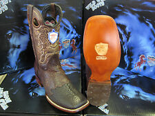 WILD WEST SQUARE BROWN GENUINE SHARK RODEO WESTERN COWBOY BOOT 2828407