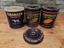 Vintage Granger Tobacco Tins Lot of 2 Tins 1 Can & Extra Lid Rough Cut Pointer