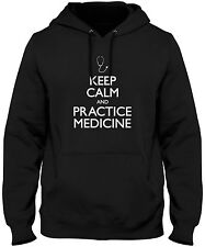 Men's Keep Calm And Practice Medicine Hoodie Doctor Nurse Health Care Sweatshirt