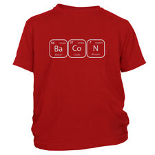 Kid's Bacon Periodic Table Of Elements T-Shirt Funny Science Chemistry Lover Tee